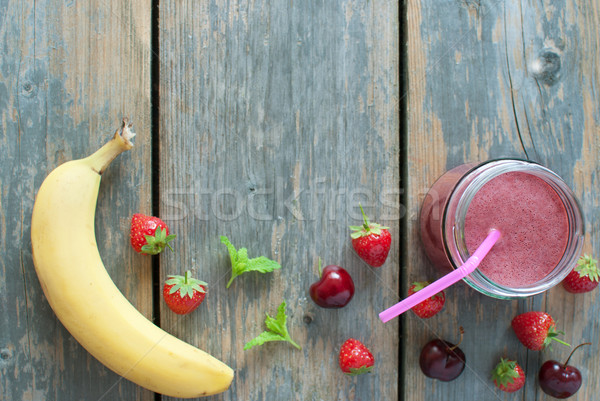 Berry smoothie Stock photo © unikpix
