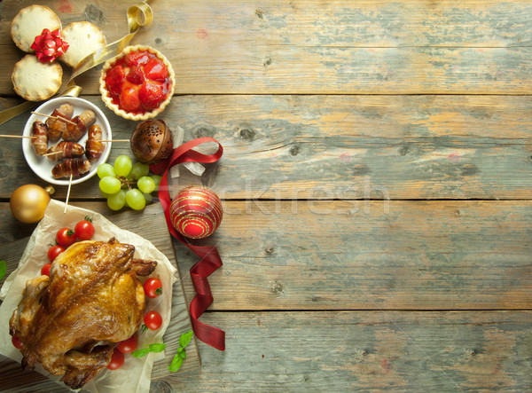 Christmas meal background Stock photo © unikpix