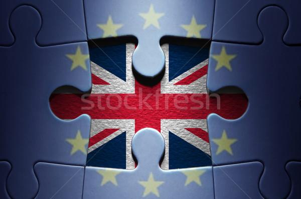 Foto stock: Rompecabezas · que · falta · pieza · europeo · negocios