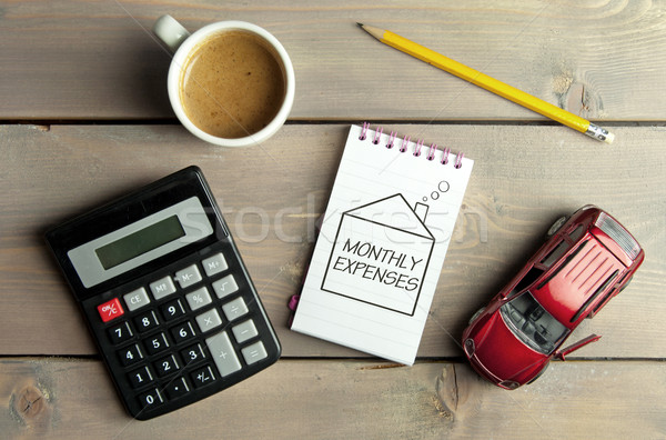 Monthly budget and expenses concept Stock photo © unikpix