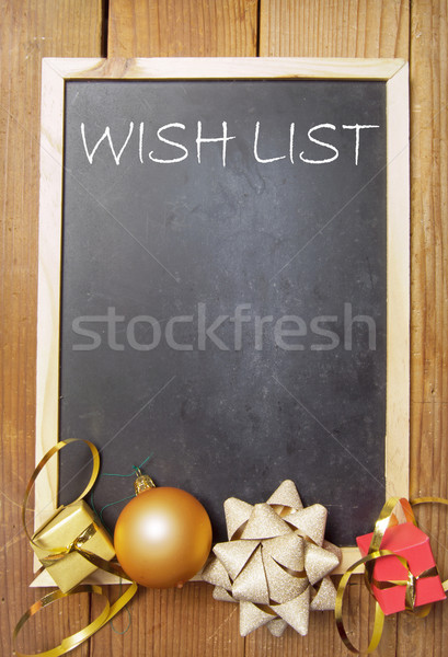 Christmas wish list Stock photo © unikpix
