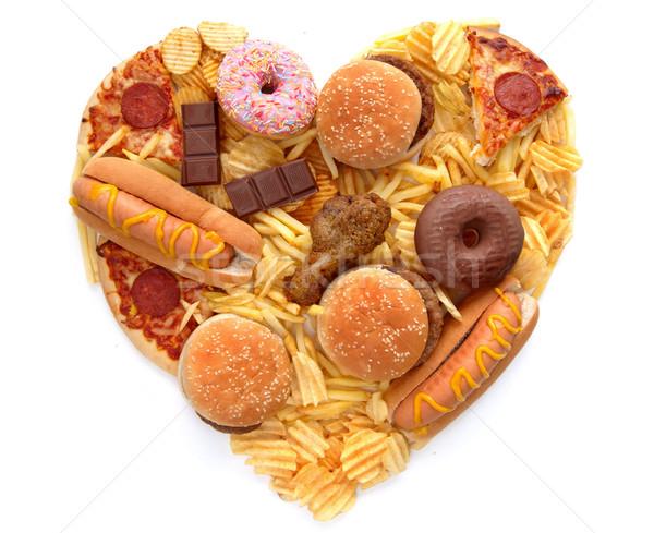 Heart shape junk food Stock photo © unikpix