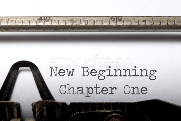 New beginning, chapter one Stock photo © unikpix