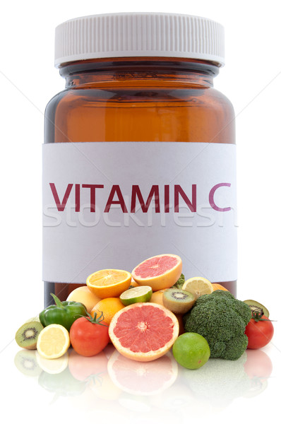 Vitamine c riche médecine pilule jar Photo stock © unikpix