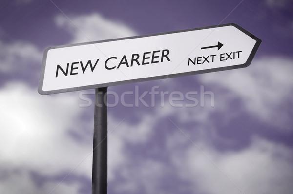 новых карьеру дорожный знак указывая следующий выход Сток-фото © unikpix