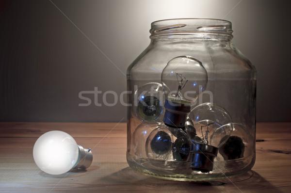 толпа лампа стекла банку свет Сток-фото © unikpix
