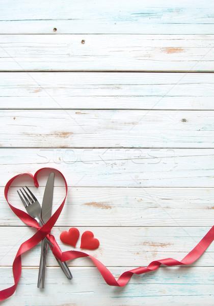 Valentine menu background Stock photo © unikpix