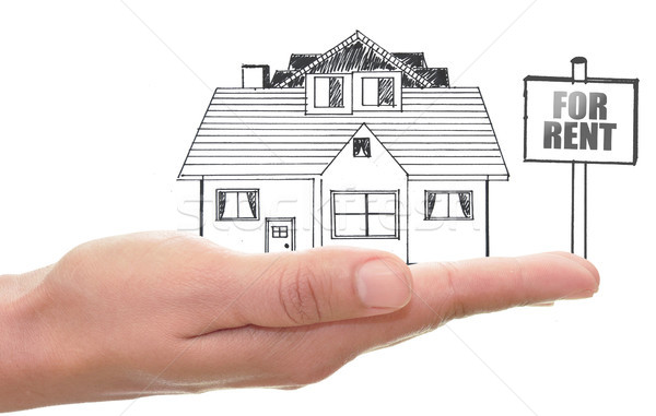 Real estate house for rent Stock photo © unikpix