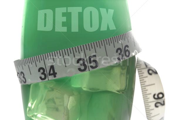 Detoxikáló mérőszalag körül dzsúz üveg ital Stock fotó © unikpix