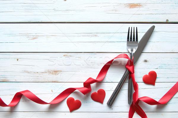 Valentines day meal background Stock photo © unikpix
