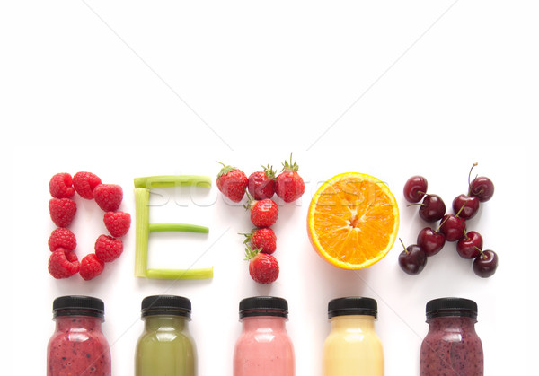 Detox juice smoothies background Stock photo © unikpix