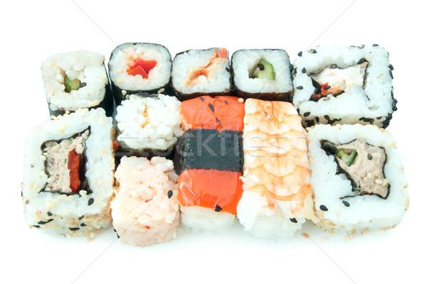 суши рыбы растительное белый Сток-фото © unikpix
