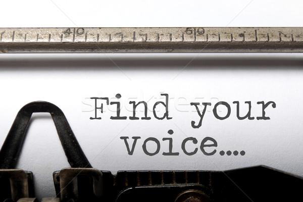 Trovare voce ispirazione stampata vecchio stile macchina da scrivere Foto d'archivio © unikpix