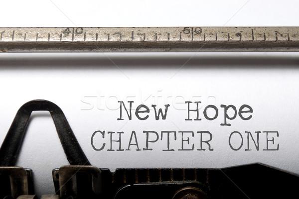 Hoffnung neue Kapitel ein gedruckt Jahrgang Stock foto © unikpix