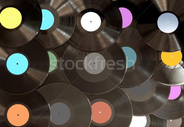 Analoog vinyl records groot vintage retro Stockfoto © unikpix