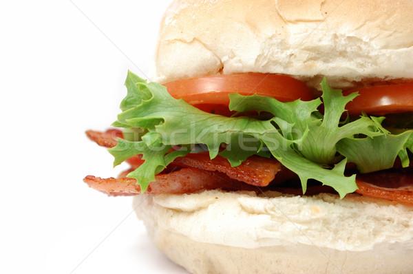 Bacon rolar alface tomates carne Foto stock © unikpix