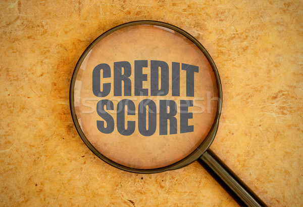 кредитных счет увеличительное стекло бизнеса стекла Сток-фото © unikpix