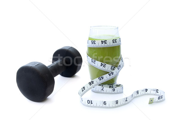 Zöld smoothie zöldség fehérje smoothie shake testmozgás Stock fotó © unikpix
