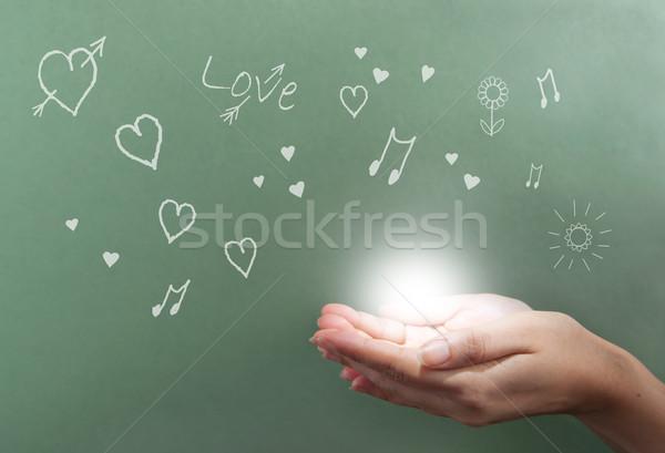 Stock photo: Love valentines background