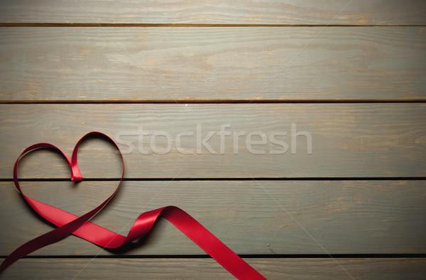 Red ribbon with copyspace  Stock photo © unikpix
