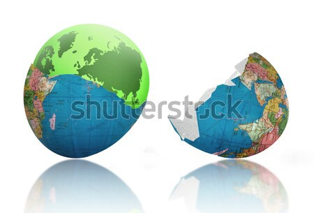 Yeni dünya doğmuş yeşil toprak kırık Stok fotoğraf © unikpix