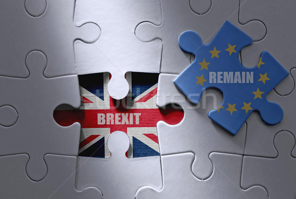 Stock photo: Brexit jigsaw puzzle concept