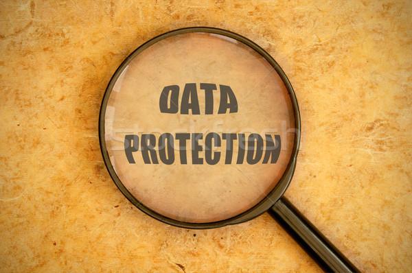 データ保護 虫眼鏡 言葉 セキュリティ 保護 ストックフォト © unikpix