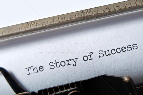 Történet siker cím öreg írógép ír Stock fotó © unikpix