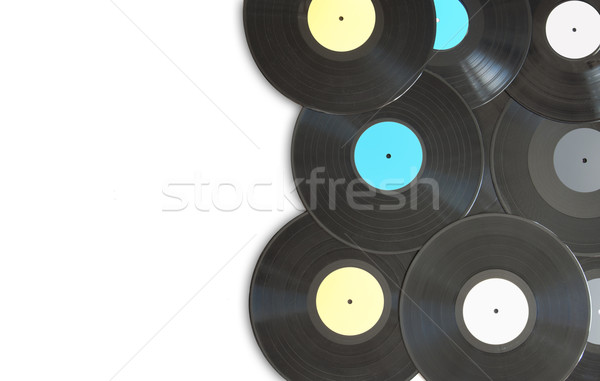 Vinyl records with space Stock photo © unikpix