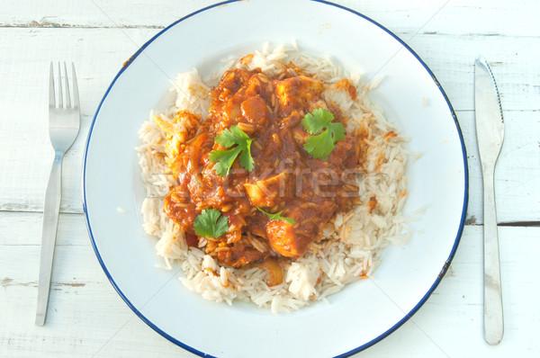 Chicken curry Stock photo © unikpix
