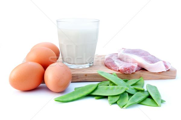 Protein diyet zengin gıda malzemeler et Stok fotoğraf © unikpix