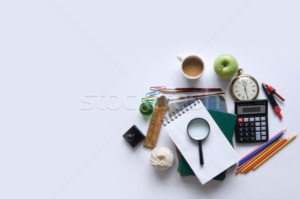 Stationery education background with space Stock photo © unikpix