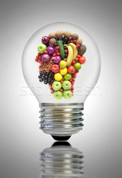 Dieta saudável inspiração fruto vegetal ingredientes dentro Foto stock © unikpix