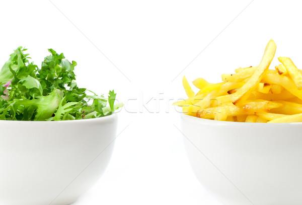 Saudável alimentos não saudáveis estilo de vida escolha salada Foto stock © unikpix