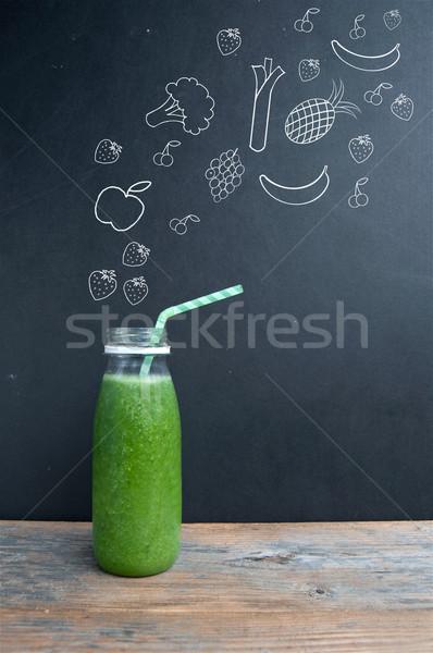 グリーンスムージー ダイエット フルーツ 野菜 スムージー 材料 ストックフォト © unikpix