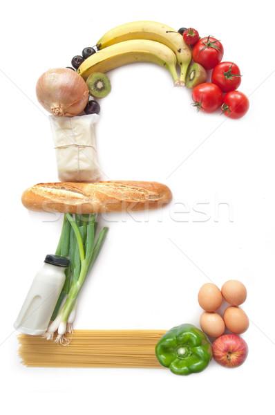 Font felirat étel élelmiszer élelmiszer vásárlás Stock fotó © unikpix