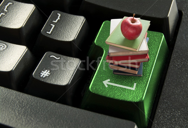 を 教育 スタック 図書 赤いリンゴ 先頭 ストックフォト © unikpix