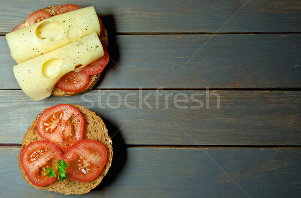 Tomato and cheese sandwich with copy space  Stock photo © unikpix
