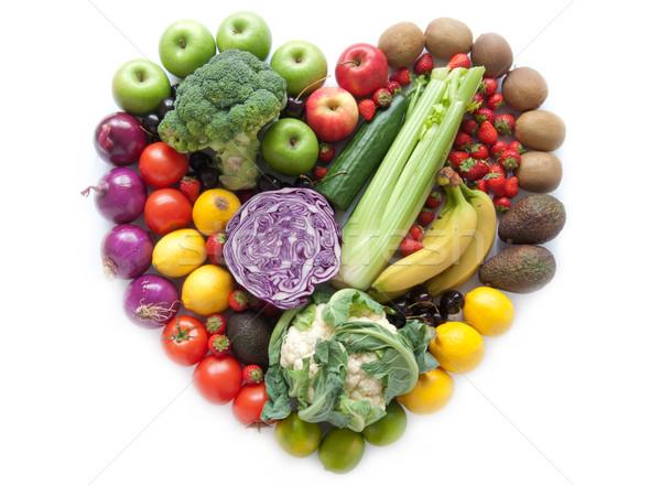 Heartshape fruits and vegetables  Stock photo © unikpix