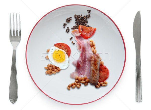 Great British fry up, full english breakfast  Stock photo © unikpix