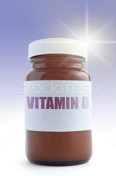 Vitamine d médecine jar soleil soins mode de vie Photo stock © unikpix
