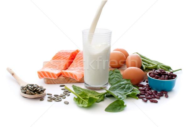 Сток-фото: белок · диета · богатых · яйца · шпинат