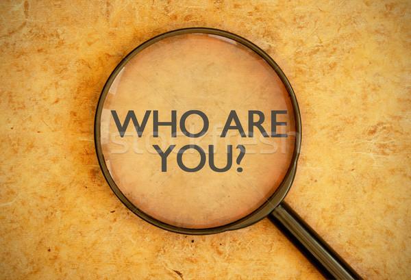 Who are you? Stock photo © unikpix