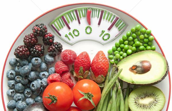łazienka skali diety warzyw zdrowych naturalnych Zdjęcia stock © unikpix