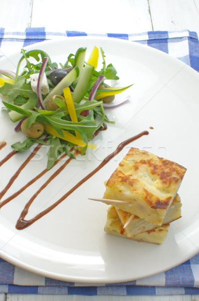 Spanish omelette with salad  Stock photo © unikpix