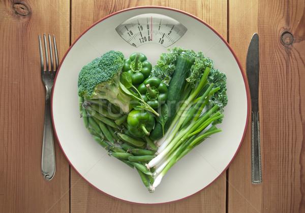 Green healthy diet concept Stock photo © unikpix
