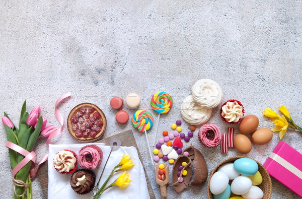 Assorted easter food selection  Stock photo © unikpix