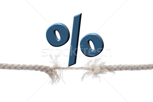 процент знак сбалансированный бизнеса финансовых продажи Сток-фото © unikpix
