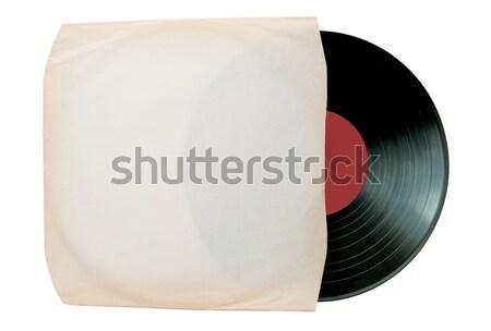 Vinyl record binnenkant huls witte ruimte Stockfoto © unikpix