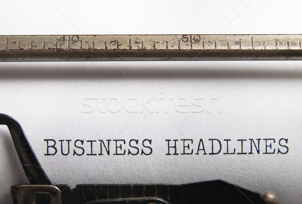Business Headlines  Stock photo © unikpix